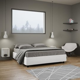Azelia King Size Bed with Slat and Storage Container