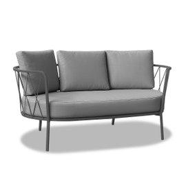Canapé 3 places Desiree avec coussins - gris