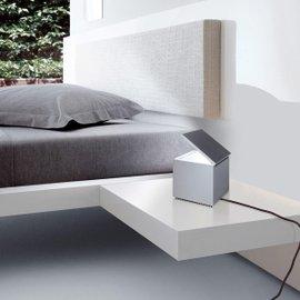 Lampe de table Cuboled métallisée