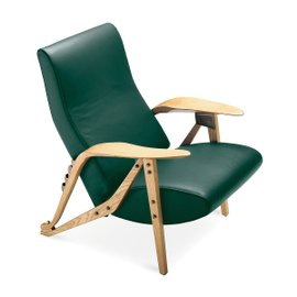 Gilda armchair in leather