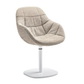 Eva swivel armchair in fabric