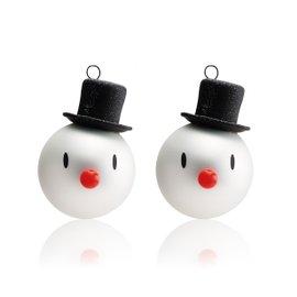 2 boules Snowman Christmas