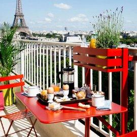 Tavolo da balcone Bistro satinato