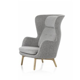 Ro Armchair with wooden legs