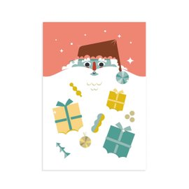 "3 cards ""Santa Claus"" with envelopes"