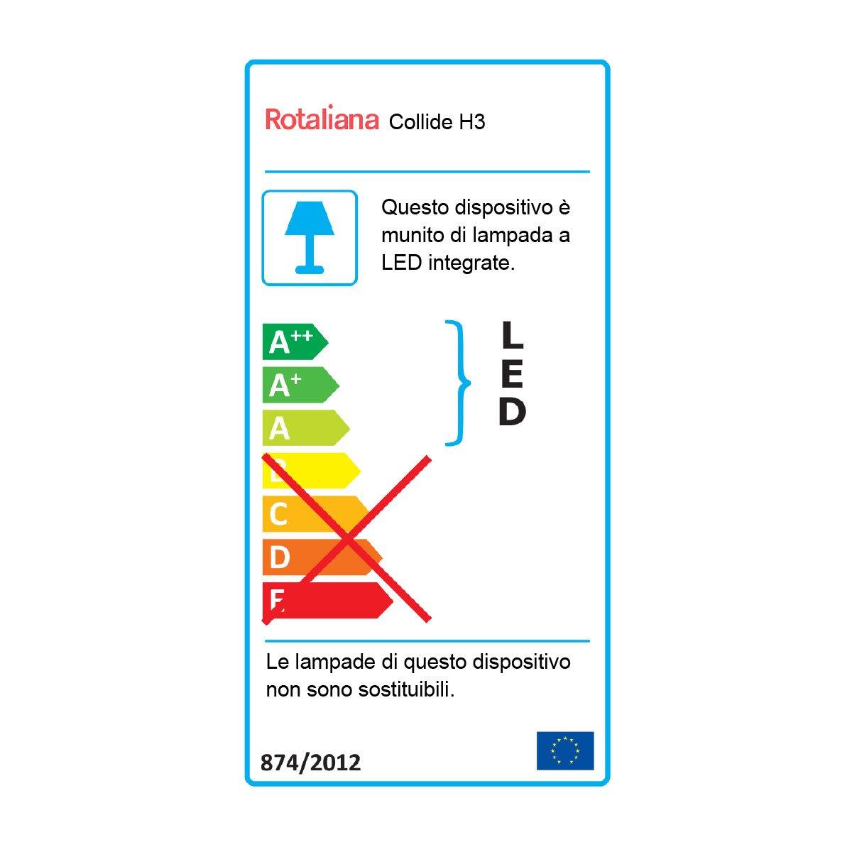 Lampada Da Soffitto Collide H3 3000 K By Rotaliana Lovethesign